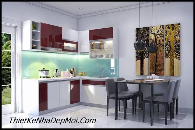 Mẫu trang trí phòng bếp đẹp cho nhà cấp 4 trệt