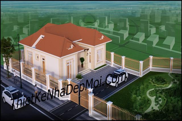 Nhà đẹp 100m2 hình chữ U