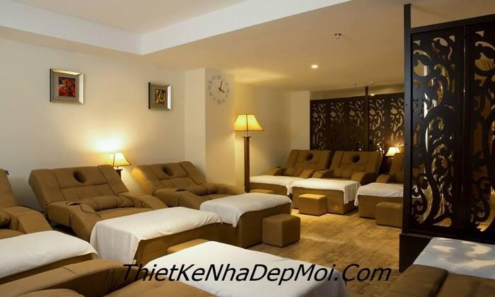 Thiết kế nội thất phòng mát xa ở tầng 2 khách sạn mini đẹp