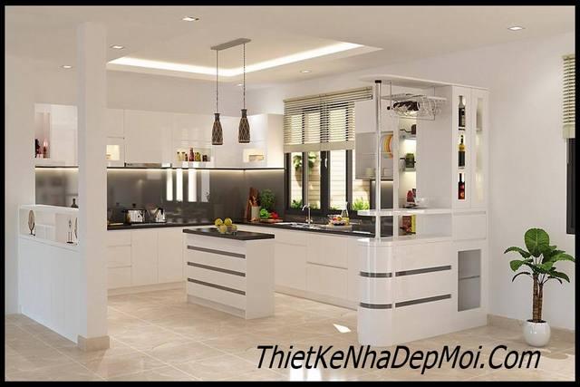 Trang trí nội thất phòng bếp đẹp hiện đại