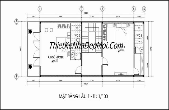 Thiết kế nhà ngang 6m dài 20m