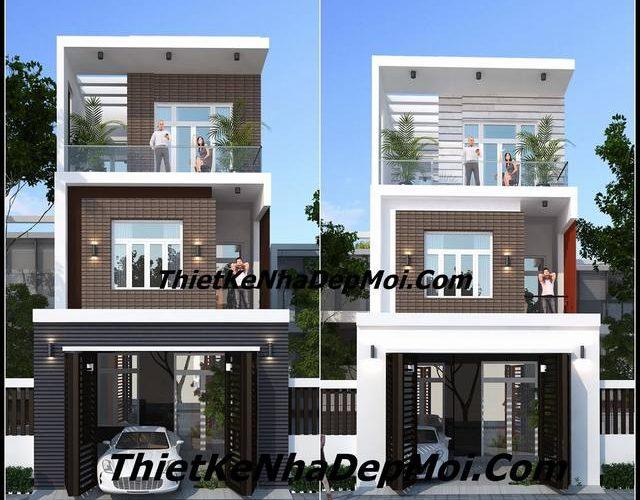 Mẫu thiết kế nhà ngang 6m 3 tầng