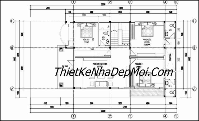 Thiết kế xây biệt thự phố tại Bình Dương 10m
