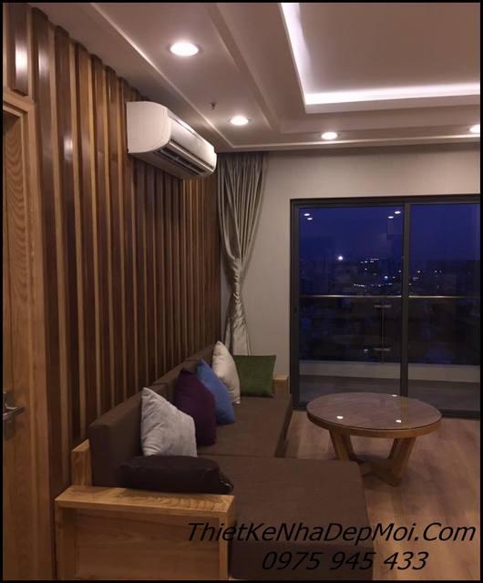 Thiết kế thi công nội thất chung cư bằng đồ gỗ