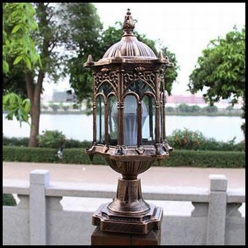 Trụ đèn cho hàng rào