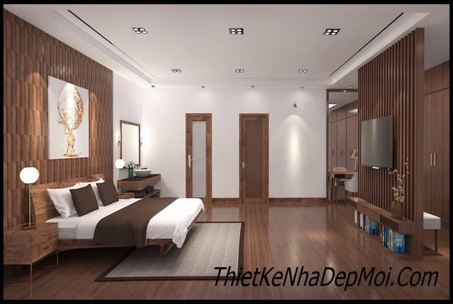 Thiết kế nội thất gỗ phòng ngủ