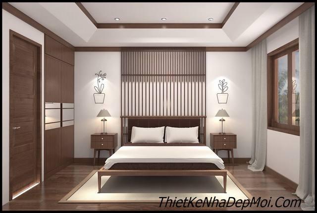 thiết kế phòng ngủ gỗ con trai