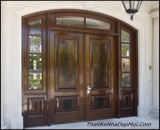 cửa gỗ 4 cánh nhà 5m