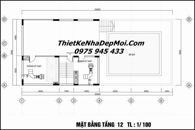 bản vẽ khách sạn 3 sao Đà Nẵng