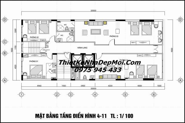 Tiêu chuẩn mặt bằng khách sạn 3 sao Đà Nẵng