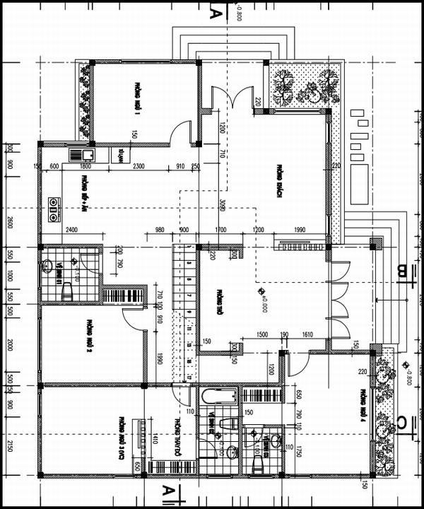 Bản vẽ mặt bằng nhà cấp 4 có gác lửng tầng 1