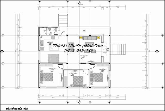 Bản thiết kế nhà sàn cấp 4 hiện đại