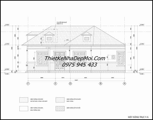 Bản vẽ nhà lô góc 2 mặt tiền 1 tầng