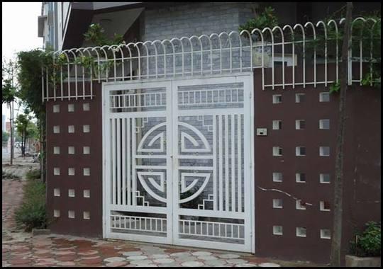 cổng 2 cánh nhà phố giá rẻ