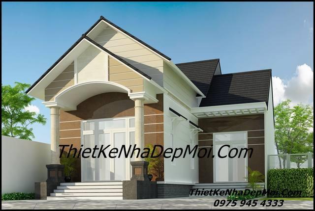 Bản vẽ chi tiết nhà đẹp 1 tầng mái thái