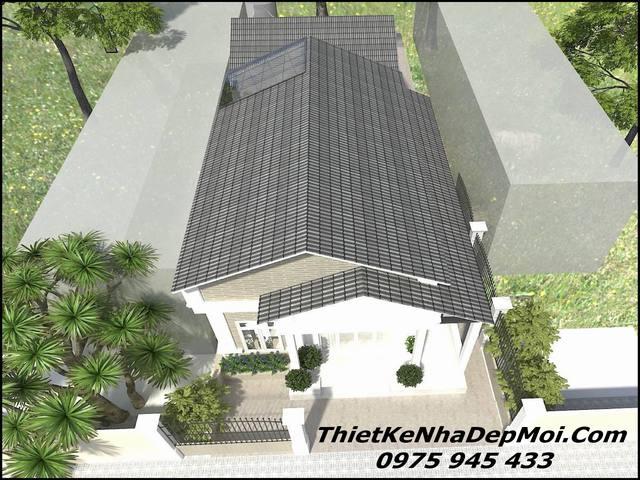 bản vẽ nhà cấp 4 mái thái 80m2 đơn giản