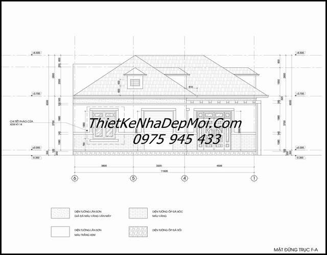 Bản vẽ nhà vát góc cấp 4 đơn giản mà đẹp 2020