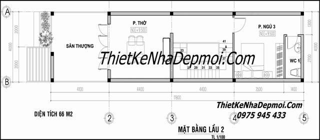 Bản vẽ xây nhà ống 4x20 lệch tầng hiện đại tại Quảng Ninh