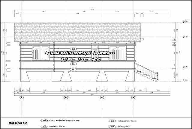 Bản vẽ autocad thiết kế nhà sàn