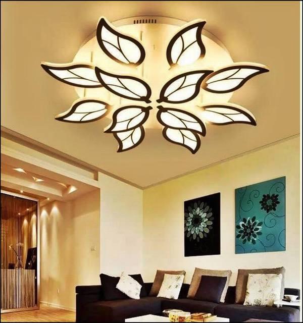Cách trang trí trần phòng khách hiện đại