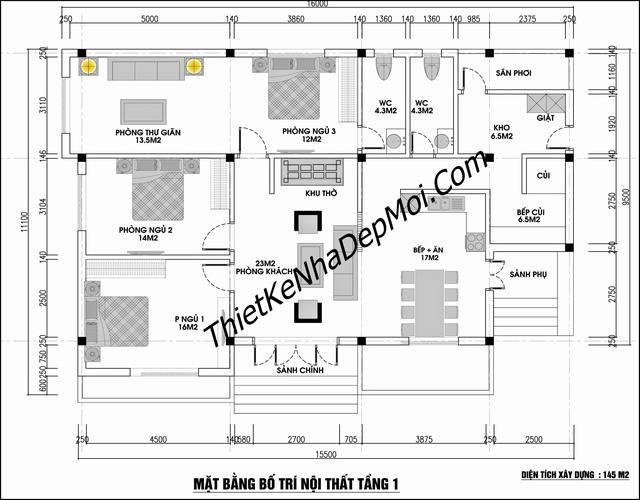 Thiết kế nhà tại Hà Nam 150m2