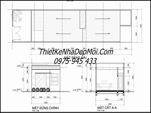 Bản vẽ cad miễn phí xây nhà cấp 4