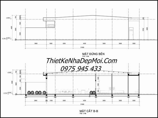 Bản vẽ xây nhà cấp 4