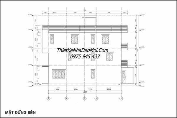 Thiết kế nhà ống lệch tầng 4x16m