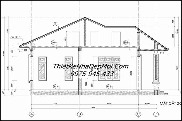 Bản vẽ xây nhà vườn cấp 4 đẹp