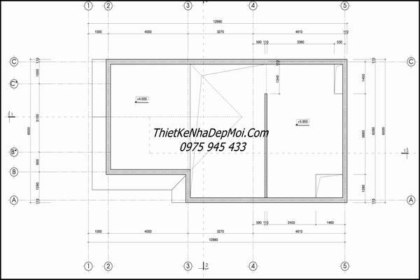bản vẽ không gian nhà gác lửng