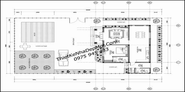 Bản vẽ quy hoạch tổng thể mẫu nhà villla đẹp