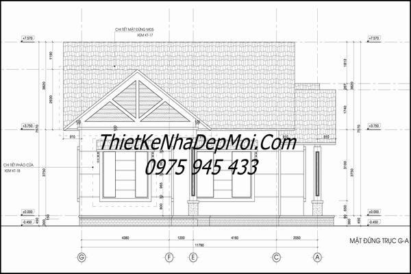 Bản vẽ xây dựng nhà cấp 4
