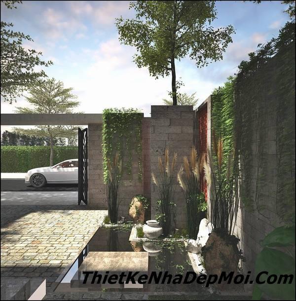 Không gian xanh nhà phố hiện đại