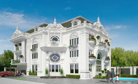 Kiến trúc biệt thự pháp phong cách Rococo