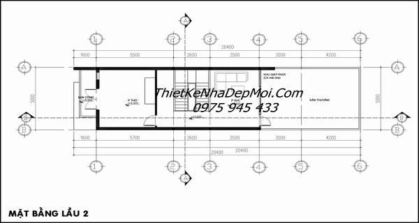 Cách thiết kế nội thất tầng 3 nhà 5x20