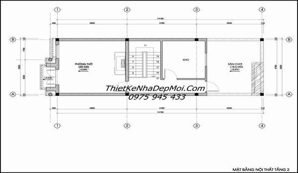 Bản ev4 thiết kế nhà 2 tầng 5x14