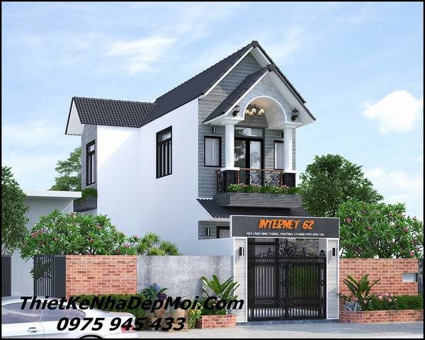 Mẫu thiết kế nhà mặt tiền 6.5m