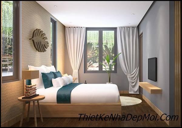 Phòng ngủ căn hộ dịch vụ