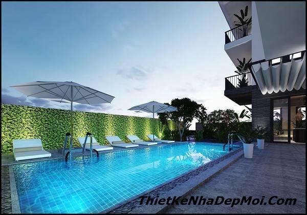 Thiết kế không gian bể bơi đẹp