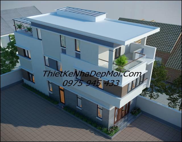 mẫu nhà đẹp 3 tầng 5x15m