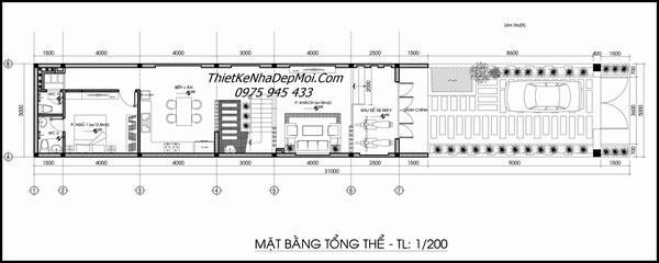 Thiết kế nhà lô phố 5x20