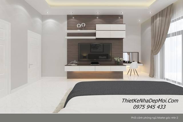Thiết kế nội thất phòng ngủ rộng 14,6m2