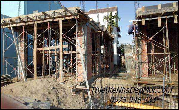 Hình ảnh xây dựng phần thô biệt thự