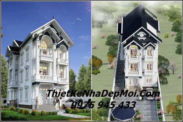 Mẫu biệt thự 3 tầng đẹp nhất 2021