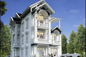 Mẫu biệt thự đẹp 3 tầng 9m
