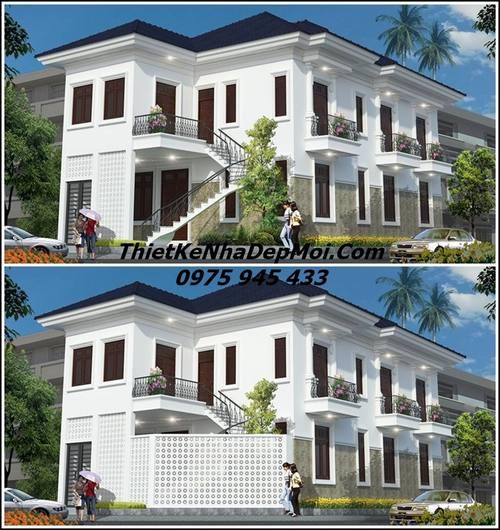 nhà đẹp 3 mặt tiền 2 tầng 2018