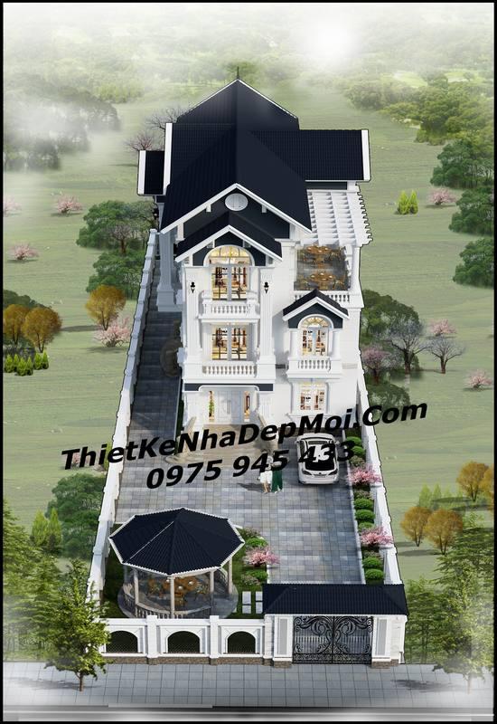 Thiết kế biệt thự 3 tầng 9x18