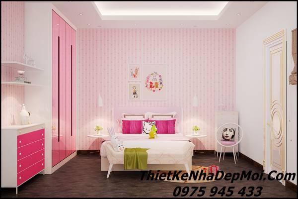 Phòng ngủ cho bé gái hot 2018