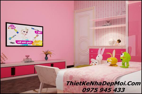 Phòng ngủ cho bé gái đẹp view 3