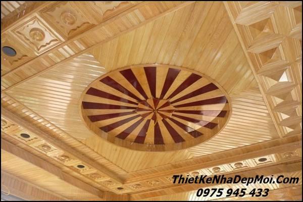Mẫu trần gỗ xoan đào